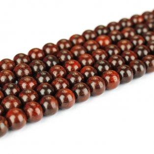 Korálek z červeného santalového dřeva - ∅ 4 mm - 1 ks