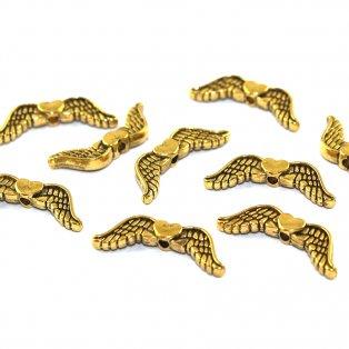 Křídla - zlatá - 20 x 7 mm - 1 ks