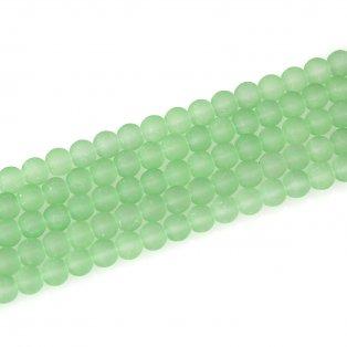 Matné korálky - pistáciové - ∅ 6 mm - 10 ks
