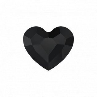 SWAROVSKI 5741 - LOVE BEAD - Jet - 12 x 12 x 5,5 mm - 1 ks