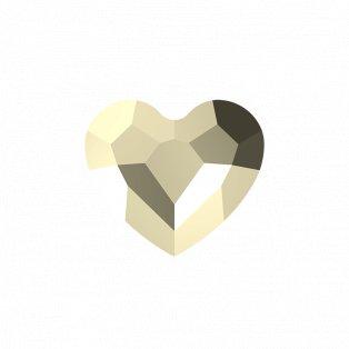 SWAROVSKI 5741 - LOVE BEAD - Crystal Metallic Light Gold 2x - 12 x 12 x 5,5 mm - 1 ks