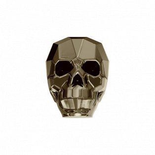SWAROVSKI 5750 - SKULL BEAD - Crystal Metallic Light Gold 2x - 13 x 10 x 13 mm - 1 ks