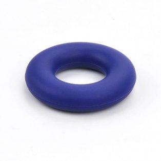 Silikonové kousátko - kruh - tmavě modré - ∅ 43 mm - 1 ks