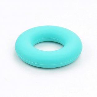 Silikonové kousátko - kruh - tmavě tyrkysové - ∅ 43 mm - 1 ks