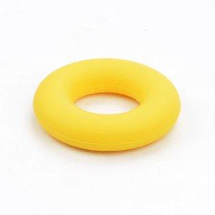 Silikonové kousátko - kruh - žluté - ∅ 43 mm - 1 ks