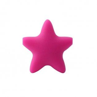 Silikonová hvězda - tmavě růžová - 37 x 37 x 10,5 mm - 1 ks