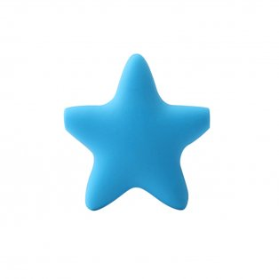 Silikonová hvězda - modrá - 37 x 37 x 10,5 mm - 1 ks