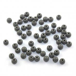 Akrylové korálky - šedé - ∅  8 mm - 10 ks
