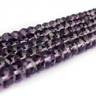 Broušené korálky - slavík - lilkové - 8 x 8 x 6 mm - 10 ks