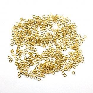 Mosazné spojovací kroužek - zlatý - Ø 4 mm - 1 ks