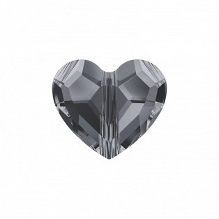 SWAROVSKI 5741 - LOVE BEAD - Crystal Silver Night 2x - 7,5 x 8 x 4 mm - 1 ks