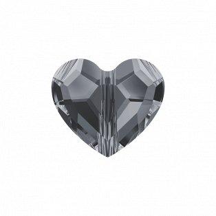 SWAROVSKI 5741 - LOVE BEAD - Crystal Silver Night 2x - 8 x 8 x 4 mm - 1 ks