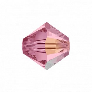 SWAROVSKI 5328 - XILION BEAD - Light Rose Aurore Boreale - ∅ 6 mm - 1 ks