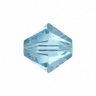 SWAROVSKI 5328 - XILION BEAD - Aquamarine - ∅ 6 mm - 1 ks