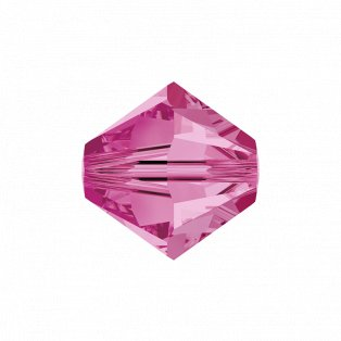SWAROVSKI 5328 - XILION BEAD - Rose - ∅ 6 mm - 1 ks