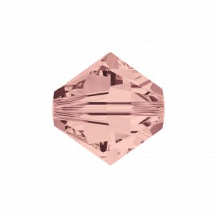 SWAROVSKI 5328 - XILION BEAD - Blush Rose - ∅ 6 mm - 1 ks