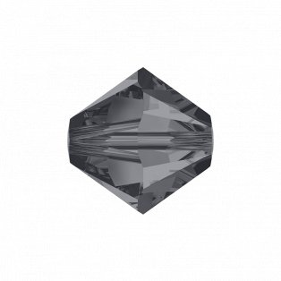 SWAROVSKI 5328 - XILION BEAD - Crystal Silver Night - ∅ 4 mm - 1 ks