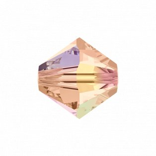 SWAROVSKI 5328 - XILION BEAD - Light Peach Aurore Boreale - ∅ 4 mm - 1 ks