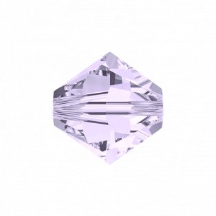 SWAROVSKI 5328 - XILION BEAD - Smoky Mauve - ∅ 4 mm - 1 ks