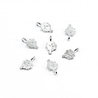 Přívěsek ze stříbra 925 - čtyřlístek - 12 x 6,5 x 3,5 mm - 1 ks