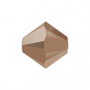 SWAROVSKI 5328 - XILION BEAD - Crystal Rose Gold 2x - ∅ 6 mm - 1 ks