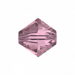SWAROVSKI 5328 - XILION BEAD - Crystal Antique Pink - ∅ 6 mm - 1 ks