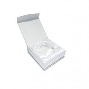 Luxusní krabička na náramky - 90 x 90 x 38 mm - bílá - 1 ks