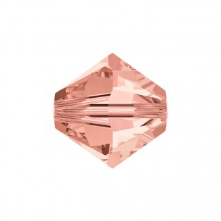 SWAROVSKI 5328 - XILION BEAD - Rose Peach - ∅ 6 mm - 1 ks
