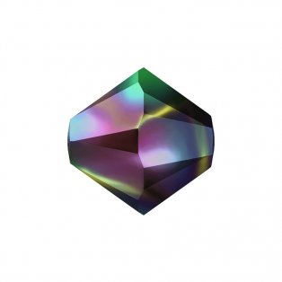 SWAROVSKI 5328 - XILION BEAD - Crystal Rainbow Dark 2x - ∅ 6 mm - 1 ks