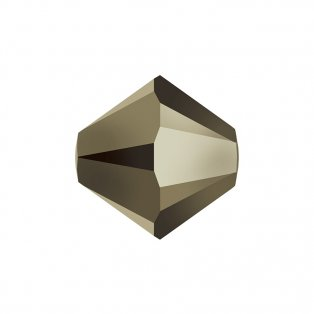 SWAROVSKI 5328 - XILION BEAD - Crystal Metallic Light Gold 2x - ∅ 6 mm - 1 ks