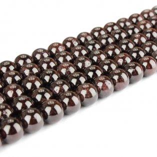 Přírodní granát - ∅ 4 mm - 1 ks