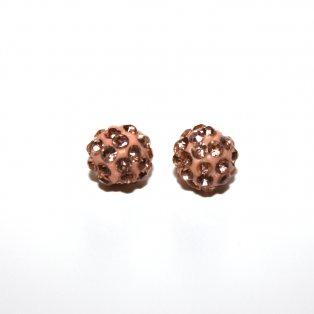 Shamballa korálek - meruňkový - Ø 10 mm - 1 ks