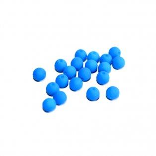 Korálky Estrela NEON - nebesky modré - ∅ 8 mm - 10 ks