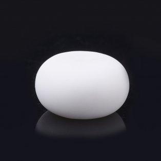 Silikonový korálek - bílý - kroužek - 14 x 14 x 8 mm - 1 ks