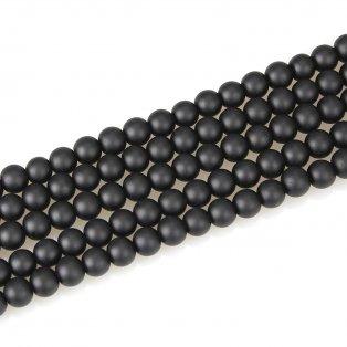 Matné korálky - černé - ∅ 10 mm - 10 ks
