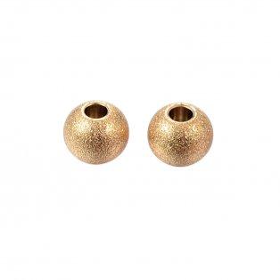 Korálek z nerezové oceli s hvězdným prachem - zlatý - 8 x 8 x 7 mm - 1 ks