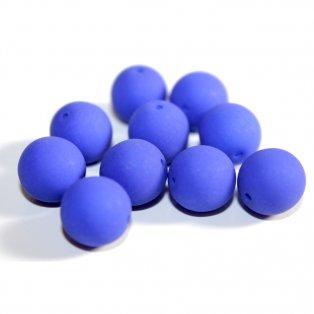 Korálky Estrela NEON - královsky modré - ∅ 10 mm - 10 ks