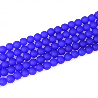 Matné korálky - modré - ∅ 10 mm - 10 ks