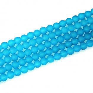 Matné korálky - nebesky modré - ∅ 10 mm - 10 ks