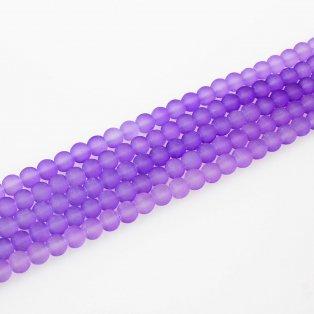 Matné korálky - světle fialové - ∅ 8 mm - 10 ks