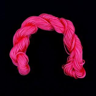 Nylonová šňůra - neonově růžová - ∅ 1 mm - 25 m - 1 ks