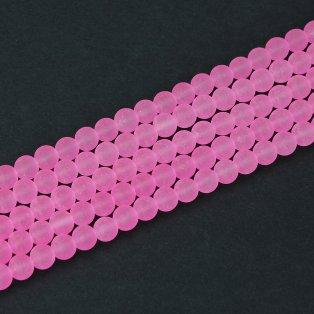 Matné korálky - světle růžové - ∅ 10 mm - 10 ks