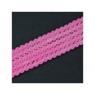 Matné korálky - světle růžové - ∅ 6 mm - 10 ks