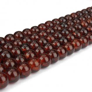 Praskané korálky - tmavě oranžové - ∅ 8 mm - 10 ks