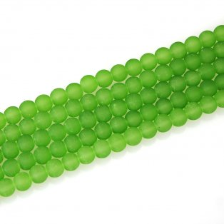 Matné korálky - světle zelené - ∅ 10 mm - 10 ks