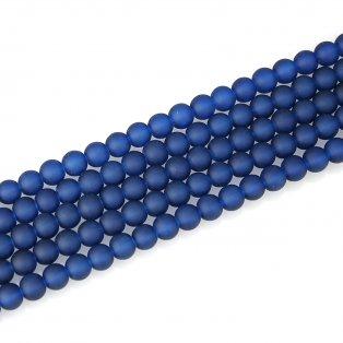 Matné korálky - tmavě modré - ∅ 10 mm - 10 ks