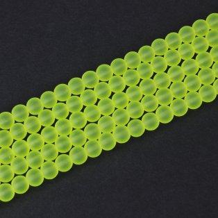 Matné korálky - žluté - ∅ 10 mm - 10 ks
