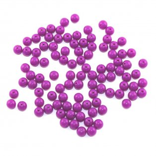Akrylové neonové korálky - fialové - ∅ 8 mm - 10 ks