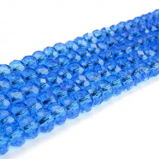 Broušené korálky - slavík - nebesky modré - 8 x 8 x 6 mm - 10 ks