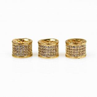 Mezidíl - 10 x 6,5 mm - zlatý - 1 ks